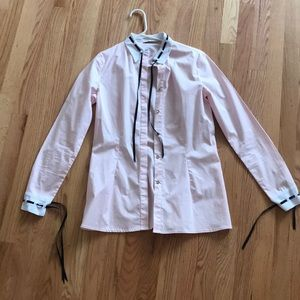 Light pink button down shirt